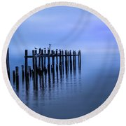 Colorful Overcast At Twilight Round Beach Towel