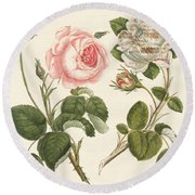 Kinds Of Roses Round Beach Towel