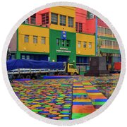 La Boca 01 Round Beach Towel