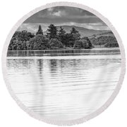Lake Of Menteith Round Beach Towel