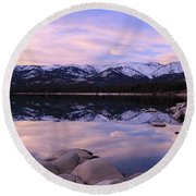 Round Beach Towel featuring the photograph Lake Tahoe Rocks by Sean Sarsfield