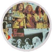 Led Zeppelin Art Round Beach Towel