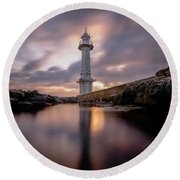 Round Beach Towel featuring the photograph Lighthouse by Okan YILMAZ