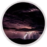 Lightning Round Beach Towel