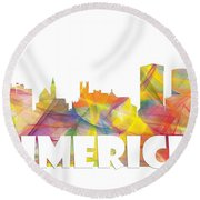 Limerick Ireland Skyline Round Beach Towel