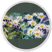 Little Asters Round Beach Towel