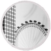 London Eye Round Beach Towel by Joana Kruse
