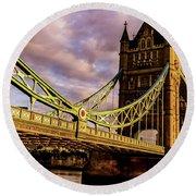 London Tower Bridge. Round Beach Towel