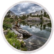 Long Lake Round Beach Towel
