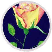 Round Beach Towel featuring the painting Love In Bloom by Rodney Campbell