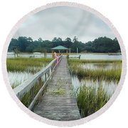 Lowcountry Dock Round Beach Towel