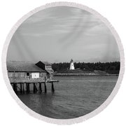 Lubec, Maine Round Beach Towel