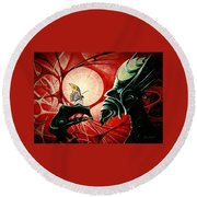 Lucifer  Round Beach Towel