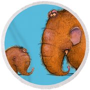 Mammothz Round Beach Towel