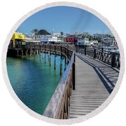 Marina Rubicon - Lanzarote Round Beach Towel