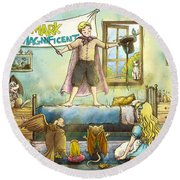 Mark The Magnificent Round Beach Towel by Reynold Jay