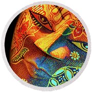 Mask Round Beach Towel by Charuhas Images