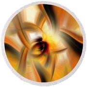 Mellow Yellow Round Beach Towel by Cathy Donohoue