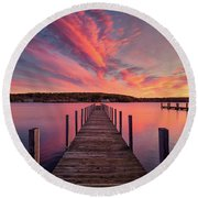 Meredith Bay Round Beach Towel