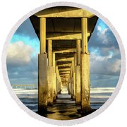 Morning Reflections Round Beach Towel by Joseph S Giacalone