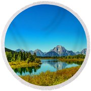 Mount Moran Round Beach Towel
