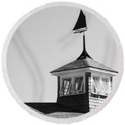 Nantucket Weather Vane Round Beach Towel by Charles Harden