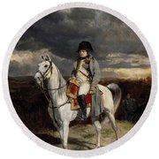 Napoleon Bonaparte On Horseback Round Beach Towel