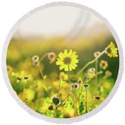 Nature's Smile Series Round Beach Towel