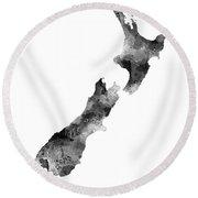 New Zealand Map Round Beach Towel