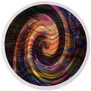 Novino Golden Shades Dramatic Waves Abstract Graphic Artwork By Navinjoshi  Buy Posters Greetings Pi Round Beach Towel by Navin Joshi