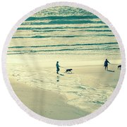 Oceanside Oregon Round Beach Towel by Amyn Nasser