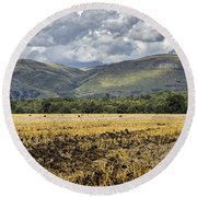Ochil Hills Round Beach Towel by Jeremy Lavender Photography
