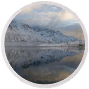 Round Beach Towel featuring the photograph On My Way Through Lofoten 3 by Dubi Roman