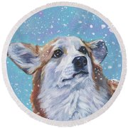Pembroke Welsh Corgi Round Beach Towel
