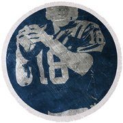 Peyton Manning Colts Round Beach Towel by Joe Hamilton