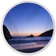 Pfeiffer Beach Round Beach Towel