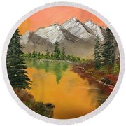 Pine Lake Round Beach Towel