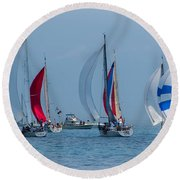 Port Huron To Mackinac Race 2015 Round Beach Towel