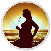 Powell Maternity Round Beach Towel