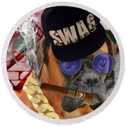 Round Beach Towel featuring the mixed media Power by Marvin Blaine
