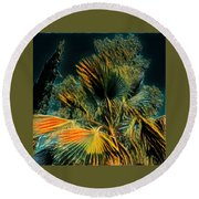 Pure Nature Spain  Round Beach Towel by Colette V Hera Guggenheim