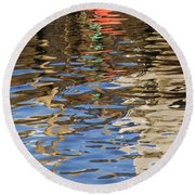 Reflections Round Beach Towel by Charles Harden