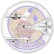 Rockwell B-1b Lancer Round Beach Towel