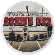 Rosies Den Cafe  Round Beach Towel