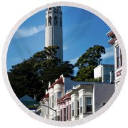 San Francisco's Coit Tower Round Beach Towel