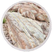 Round Beach Towel featuring the photograph Sandstone Slope In Valley Of Fire by Ray Mathis