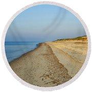 Sandy Neck Beach Round Beach Towel