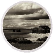 Round Beach Towel featuring the photograph Seen Better Days by Mike Dawson