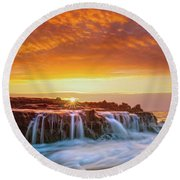 Serenity Round Beach Towel by James Roemmling
