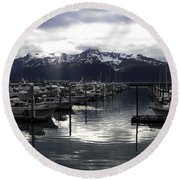 Seward Harbor Round Beach Towel
